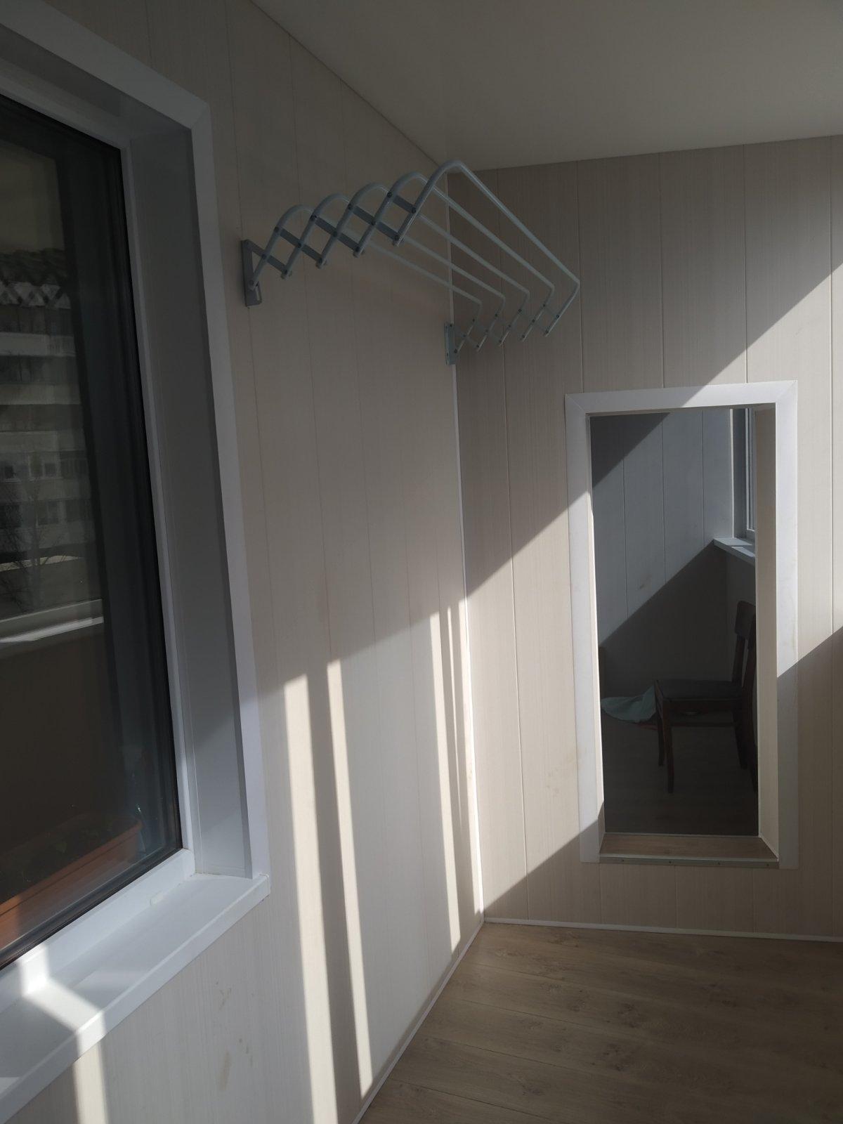 Отделка балкона ламинированными панелями ПВХ